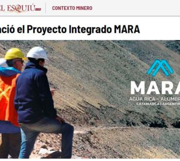 Proyecto MARA: Minería sustentable en Catamarca. Fuente El Esquiú
